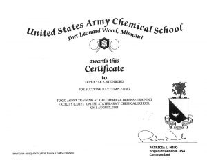 Kyle Steinburg Navy US Army Chemical School